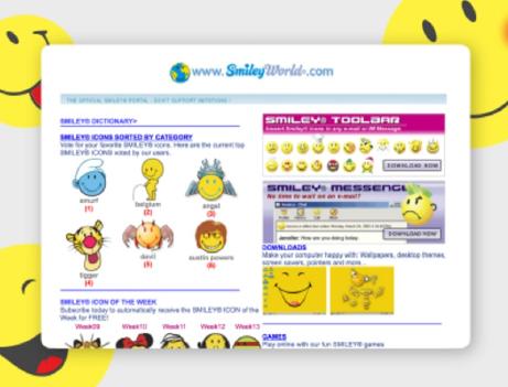 Smiley World Old Website