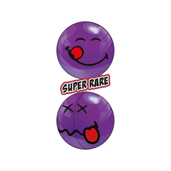 Two Purple Super Rare Smiley Halves