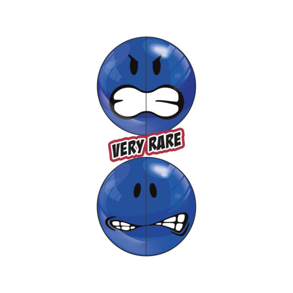 Blue Very Rare Smiley Halves