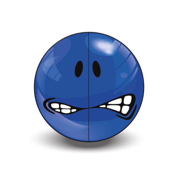 Blue Very Rare Smiley Halves