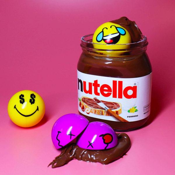 Smiley Halves in Nutella